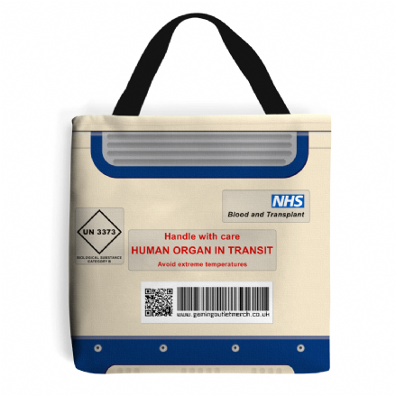 NHS Organ Transport Box Tote Shopping Bag